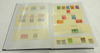 STOCKBOOK OF VARIOUS MINT & USED STAMPS TO INCLUDE PHILIPPINES, (U.S.