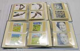 4 ALBUMS OF GB 1993 - 2003 PHQ CARDS WITH MINT SET TO INCLUDE HG WELLS, COMEDIANS, BUSES,