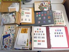 SELECTION OF VARIOUS MINT & USED GB AND WORLDWIDE STAMPS IN ALBUMS AND LOOSE WITH INDIA, BRUNEI,