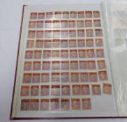 STOCK BOOK OF VARIOUS VICTORIA GB STAMPS WITH OVER 100 PENNY REDS AND 250+ 1D LILAC