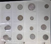 COIN ALBUM OF VARIOUS UK AND WORLDWIDE COINS TO INCLUDE 1889 VICTORIA CROWN,