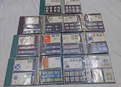 7 ALBUMS OF 1958-1983 FIRST DAY COVERS AND STAMPS IN CORRESPONDING SETS, MINT AND USED,