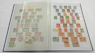 STOCKBOOK OF VARIOUS MINT & USED STAMPS TO INCLUDE NEW ZEALAND, MALAYA,