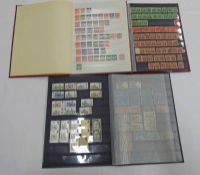 3 STOCK BOOKS OF VARIOUS KGV - QE2 GB STAMPS WITH CASTLES ,