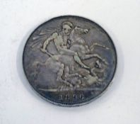 1896 VICTORIA SILVER CROWN