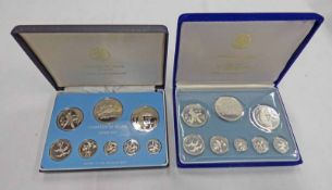 1974 AND 1977 BELIZE 8 COIN PROOF SETS IN CASE OF ISSUE WITH C.O.A.
