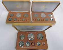 1976, 1978 AND 1979 COOK ISLANDS 8 COIN PROOF SETS IN CASE OF ISSUE WITH C.O.A.