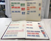 TWO STOCK BOOKS OF DUPLICATED MINT & USED COMMONWEALTH KING GEORGE VI CORONATION STAMPS