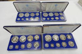1976, 1977, 1978 AND 1979 JAMAICA 9 COIN PROOF SETS IN CASE OF ISSUE WITH C.O.A.