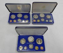 1974, 1975 AND 1979 BARBADOS 8 COIN PROOF SETS, IN CASE OF ISSUE WITH C.O.A.