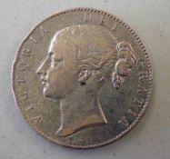 1845 VICTORIA SILVER CROWN