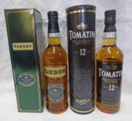 1 BOTTLE TOMATIN 12 YEAR OLD SINGLE MALT WHISKY - 70CL,