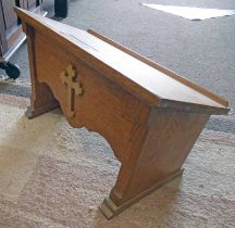 EARLY 20TH CENTURY OAK GOTHIC BOOK STAND