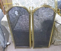 PAIR OF METAL FRAMED FIRE GUARDS HEIGHT 82CM
