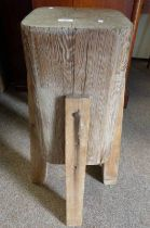 FREE STANDING KITCHEN BUTCHERS BLOCK ON SQUARE SUPPORTS 87CM TALL