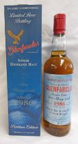 1 BOTTLE GLENFARCLAS 15 YEAR OLD FINO SHERRY CASK SINGLE MALT WHISKY, DISTILLED 1986 - 700ML,