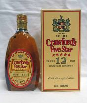 1 BOTTLE CRAWFORD'S FIVE STAR DELUXE WHISKY - 75CL, 40% VOL.