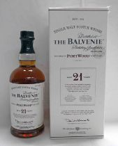1 BOTTLE BALVENIE 21 YEAR OLD PORTWOOD SINGLE MALT WHISKY - 70CL, 40% VOL.