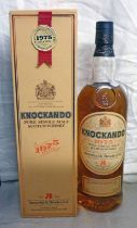 1 BOTTLE KNOCKANDO PURE SINGLE MALT WHISKY, DISTILLED 1975 75CL, 43% VOL.