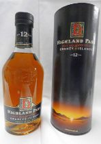 1 BOTTLE HIGHLAND PARK 12 YEAR OLD SINGLE MALT WHISKY - 70CL,
