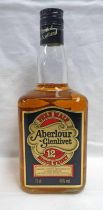 1 BOTTLE ABERLOUR - GLENLIVET 12 YEAR OLD PURE MALT WHISKY - 75CL,