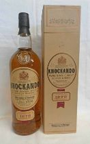 1 BOTTLE KNOCKANDO 15 YEAR OLD PURE MALT WHISKY - 1 LITRE,