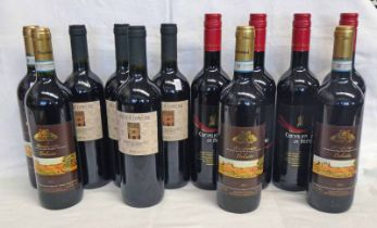 12 MIXED BOTTLES RED WINE : 4 X MONFERRATO DOLCETTO VINTAGE 2013,
