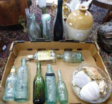 SELECTION OF GLASS BOTTLES, STONEWARE, ETC TO INCLUDE HAY & SONS ABERDEEN,