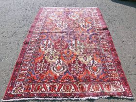 TRADITIONAL PERSIAN BAKITAR WITH ALL OVER BESPOKE PANEL DESIGN 230 X 162CM Condition