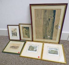 VARIOUS PICTURES RELATING TO STONEHAVEN & DUNOTTAR TO INCLUDE VIEW OF STONEHAVEN FROM THE SOUTH