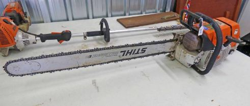 "STIHL 36"" MS880 CHAINSAW - PLUS VAT Condition Report: Sold as seen with no guarantee."