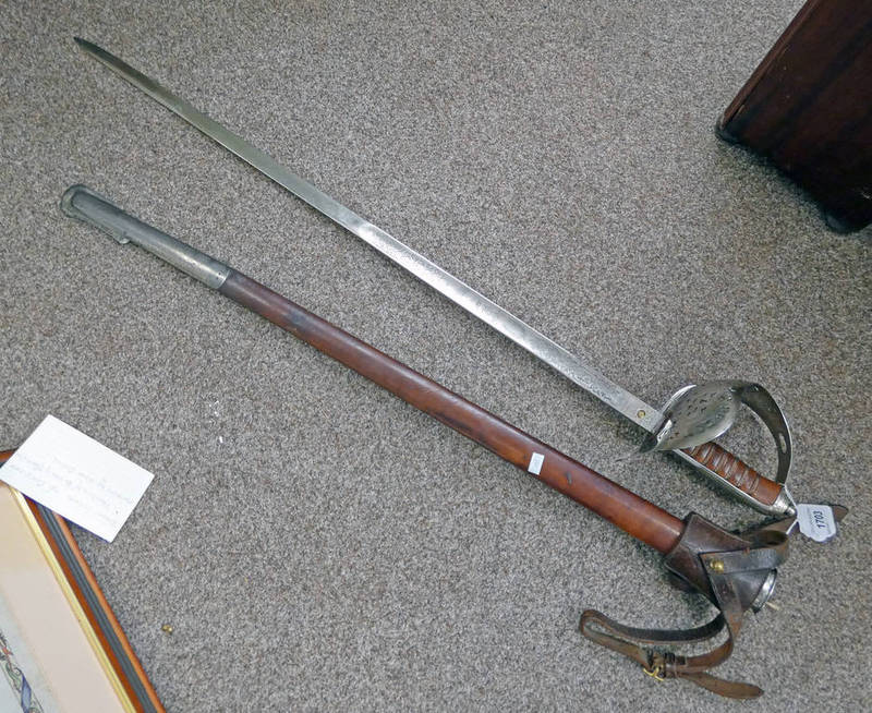 EDWARD VII BRITISH OFFICERS SWORD WITH 80.