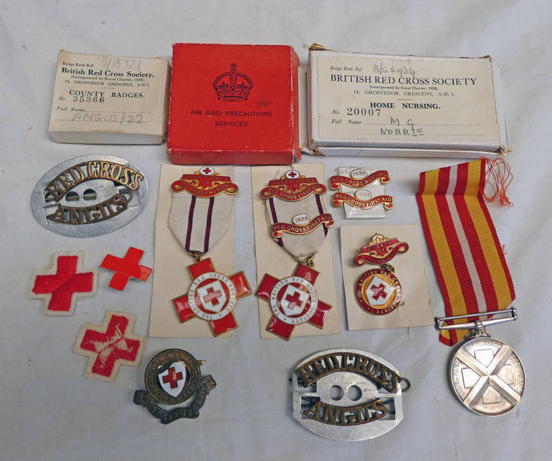 WW2 ERA BRITISH RED CROSS MEDALS TO A M.G.