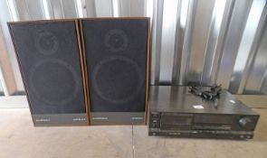 TECHNICS RS-8555 CASSETTE DECK AND A PAIR OF WHAREDALE LINTON GX SPEAKERS -3-