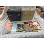TWO BOXES OF RECORDS TO INCLUDE CLASSICAL,