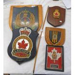 MILITARY WALL PLAQUES ETC TO INCLUDE SCOTTISH HORSE, LEGION,