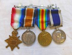 WW1 MEDAL GROUP TO STOKER 1ST CLASS A.R.