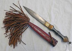 NORTH AFRICAN DOUBLE EDGED DAGGER WITH 15.