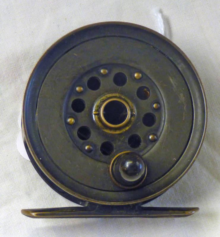 """J B MOSCROPS PATENT MANCHESTER 2 5/8"""" REEL"""