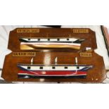 TWO PAINTED WOODEN HULL MODELS OF THE DUBLIN,