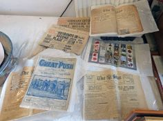 SELECTION OF WW1 AND WW2 EPHEMERA TO INCLUDE DAILY EXPRESS NOVEMBER 9 1939 HITLER ESCAPES EXPLOSION