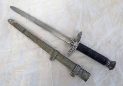 WW2 STYLE GERMAN ARMY STYLE DAGGER WITH SWASTIKA MISSING TO EAGLE ETC Condition Report: