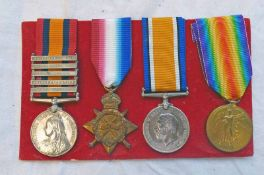 MEDAL GROUP TO A SERGEANT CN WAKELIN, CAPE AUXILIARY HORSE TRANSPORT CORPS,