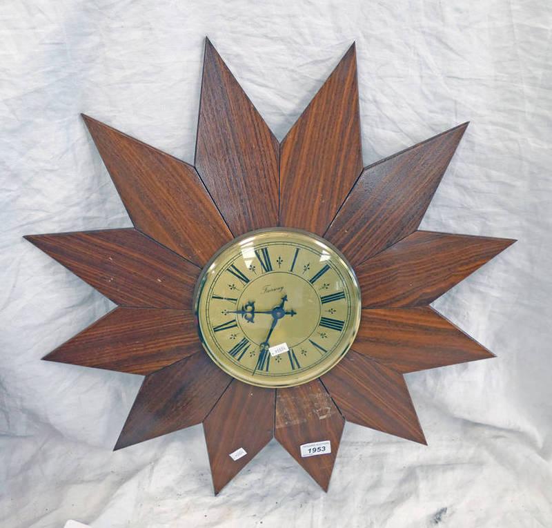 FAIRWAY STARBURST CLOCK 59CM ACROSS