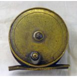 """BOWNESS & BOWNESS MAKERS LONDON 3"""" BRASS REEL"""