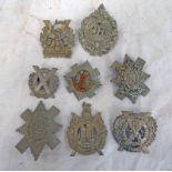 8 SCOTTISH REGIMENTAL CAP BADGES