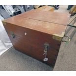 BRASS MOUNTED BOX WITH FITTED INTERIOR