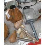 4 WOODEN MALLETS,