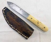 RUSSELL GREEN RIVER WORKS KNIFE WITH SINGLE EDGE SCALLOP BACK 12.