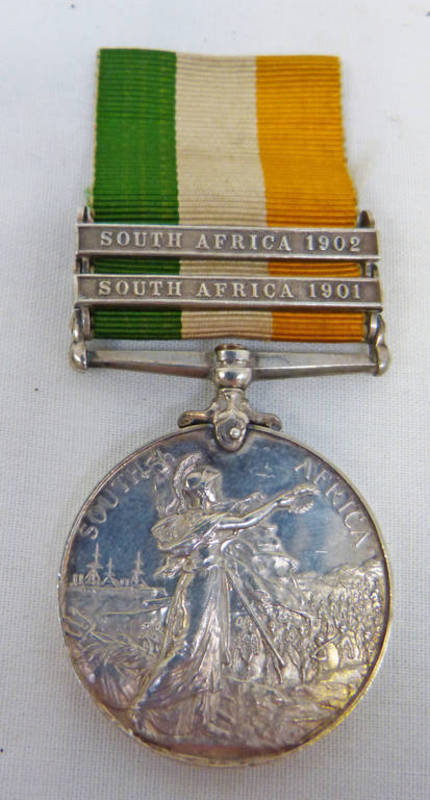 KINGS SOUTH AFRICA 1899 - 1902 MEDAL TO 4596 PTE..J. MCGARRITY K.O.